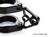 MAX Corto Black CNC Machined Headlight Brackets - Fits Fork Sizes 32 - 59mm