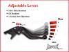 TRIUMPH TIGER 1050 / SPORT Black Shorty Adjustable Levers 2007 - 2014
