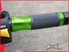GREEN CNC Machined Aluminium / Rubber Grips - 7/8
