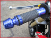 BLUE CNC Machined Aluminium / Rubber Grips With Bar Ends - 7/8