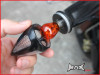 BLACK Aluminium Grips With Integrated Turn Signals - 1""