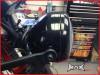 Black Metal 3 Eye LED Headlight Integrated Red LED DRL Angel Eye