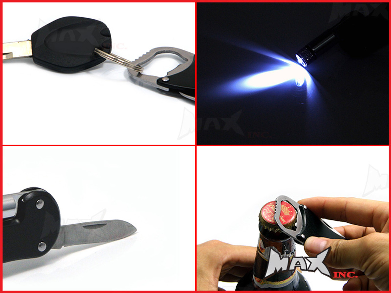 BMW S1000RR - Lasered Logo Keyring / Pocket Knife / LED Torch / Bottle Opener