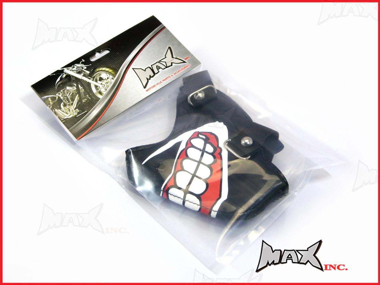 Black Grin Bikers Face Mask - PU Leather - www max-inc cn