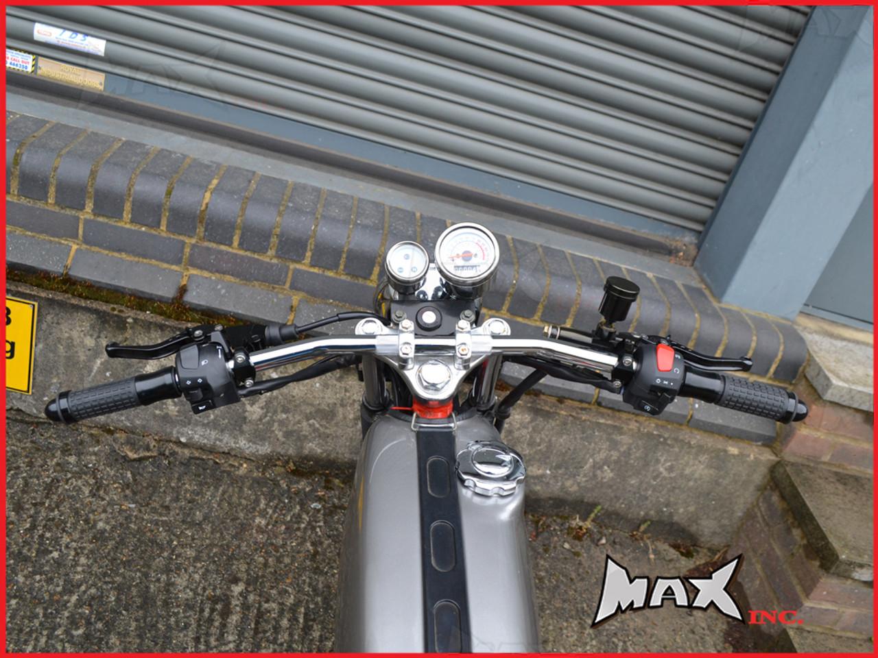 Chrome Cafe Racer Steel Drag Bars - 7/8 (22mm)