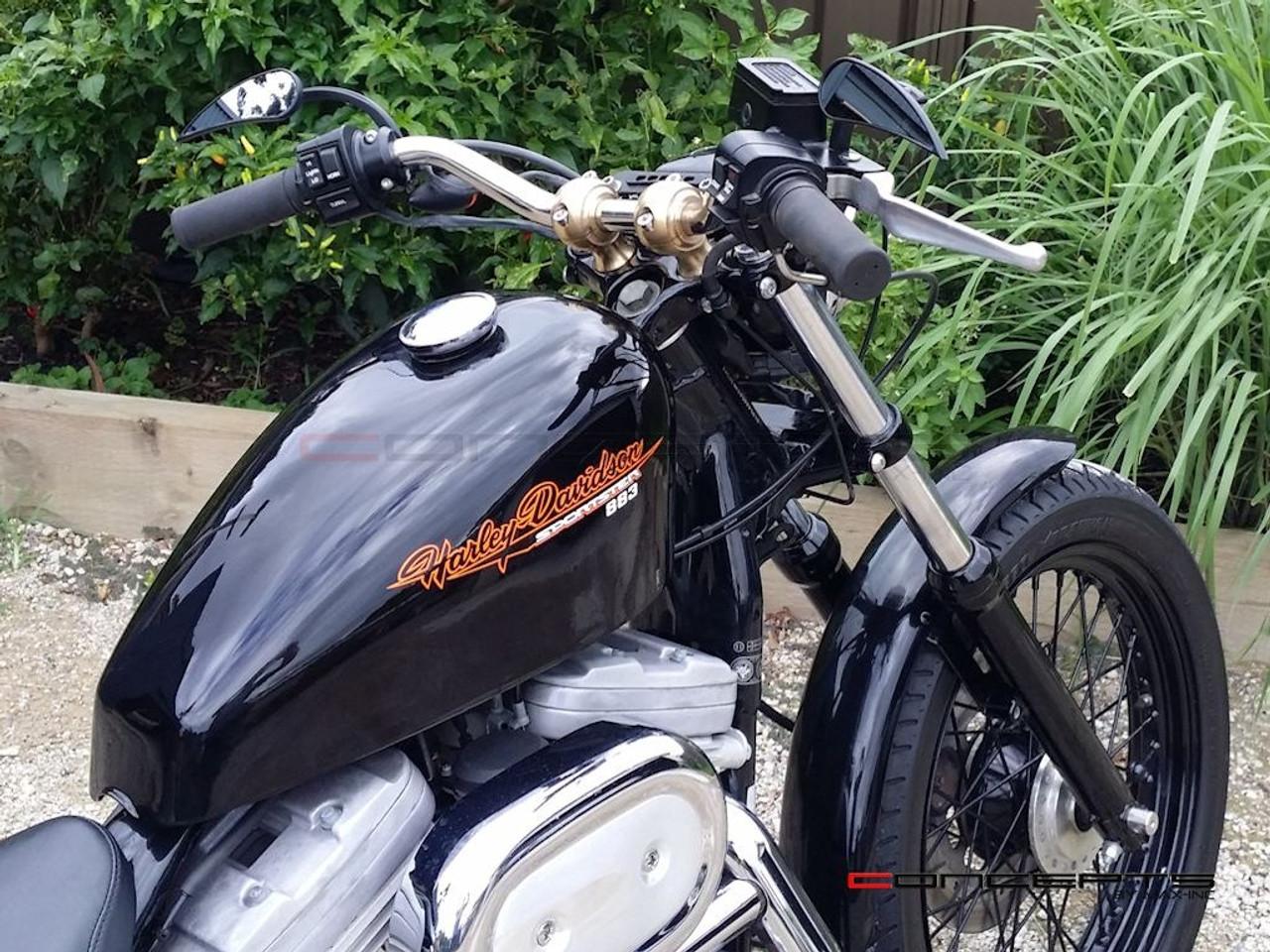 "100% Solid Brass Old School Harley Davidson Cafe Racer Risers - 1"""