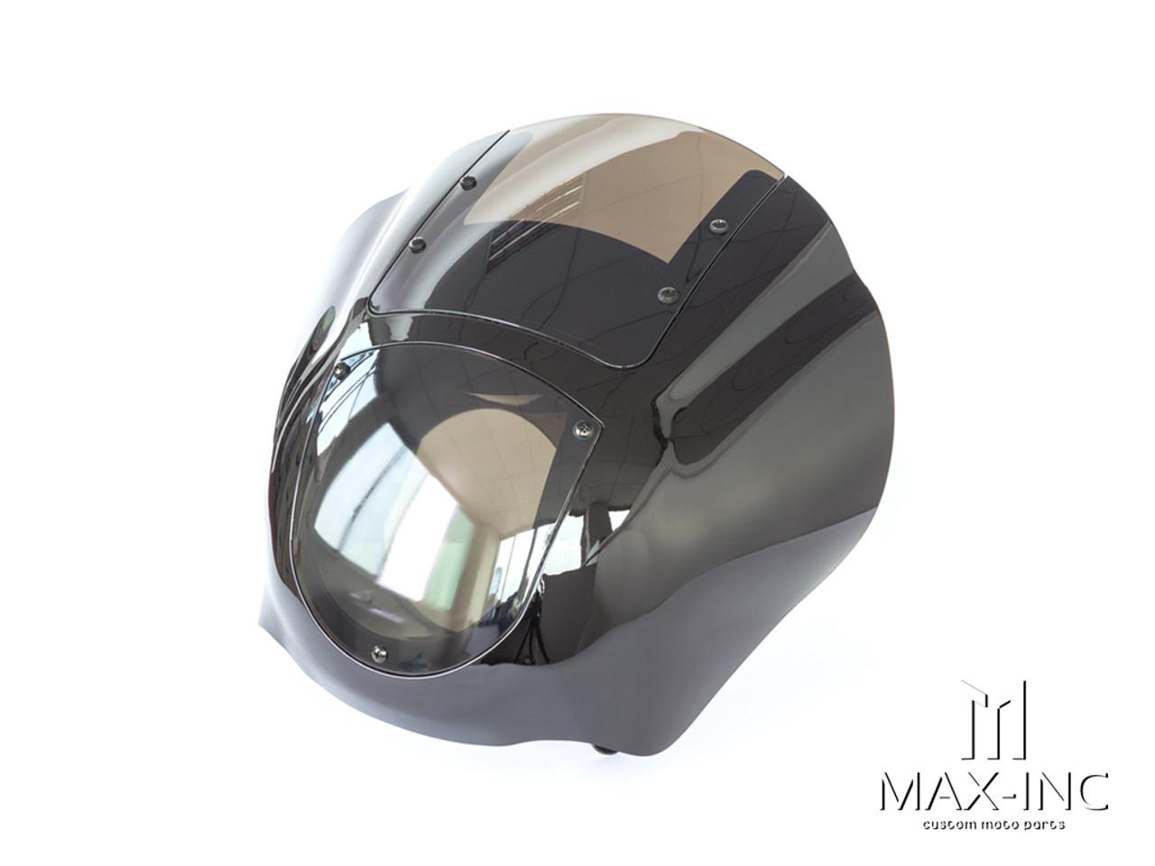 Harley Sportster / Dyna Detachable Quarter Headlight Fairing Kit - Smoked