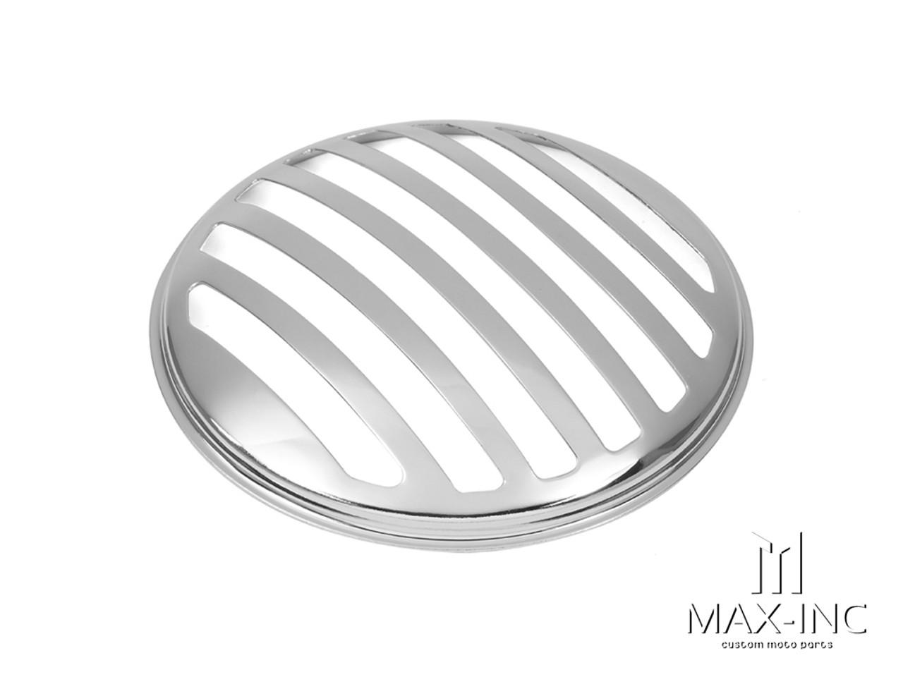 "5.75"" Chrome Prison Bar Grill Metal Headlight Cover"