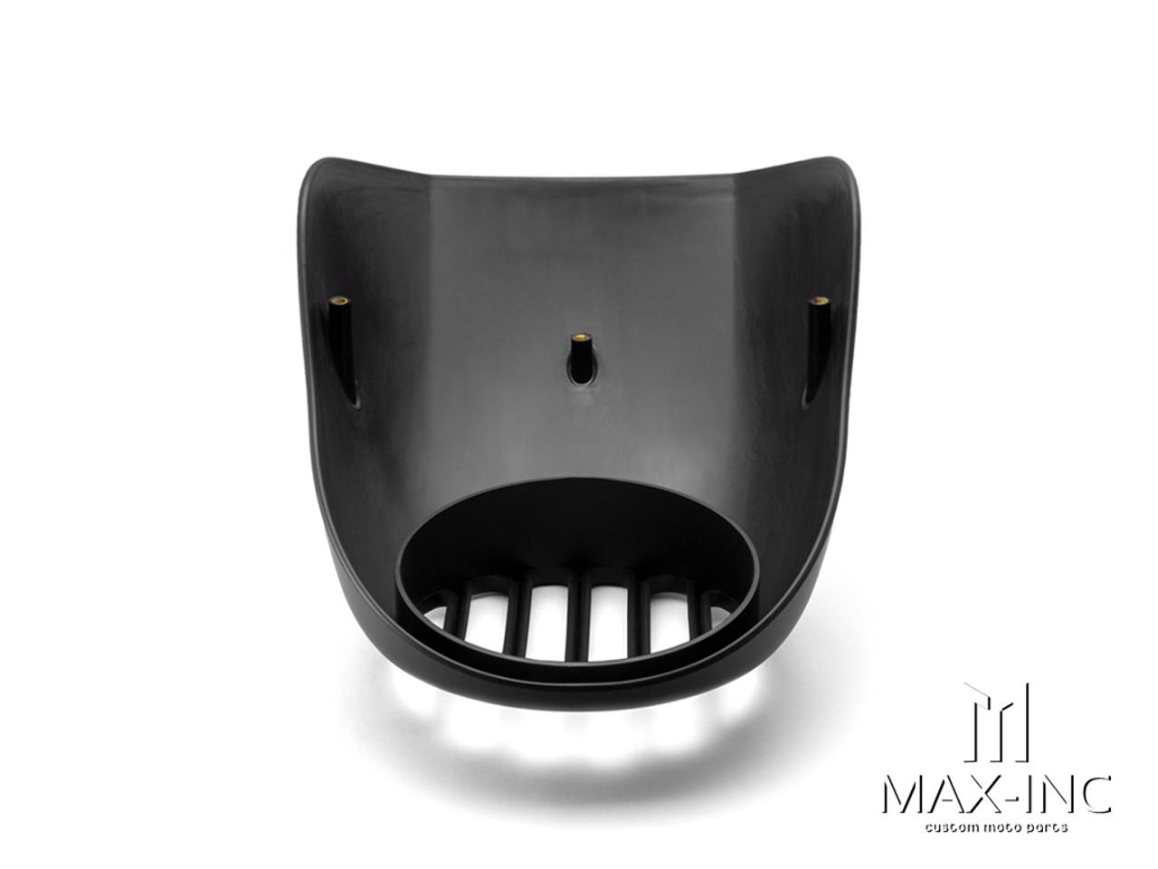 Harley Davidson Sportster Prison Grill Headlight Cowl - Matte Black