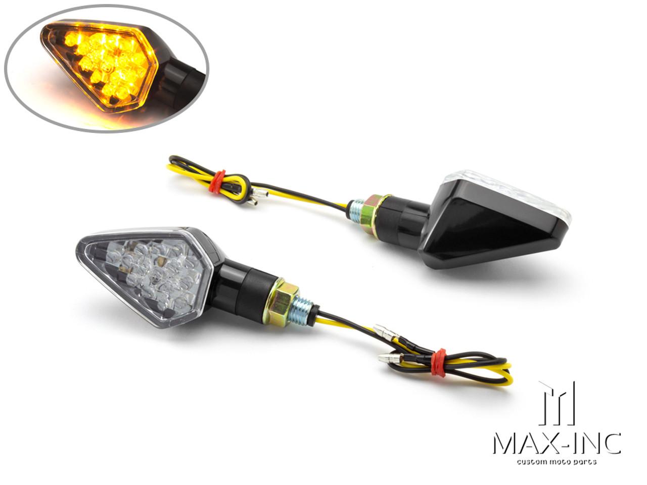Black Mini LED Turn Signals / Indicators - Emarked