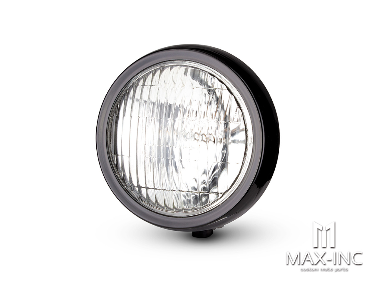 55w Max-Inc 4.5 Black 12v Chrome Metal Custom Headlight