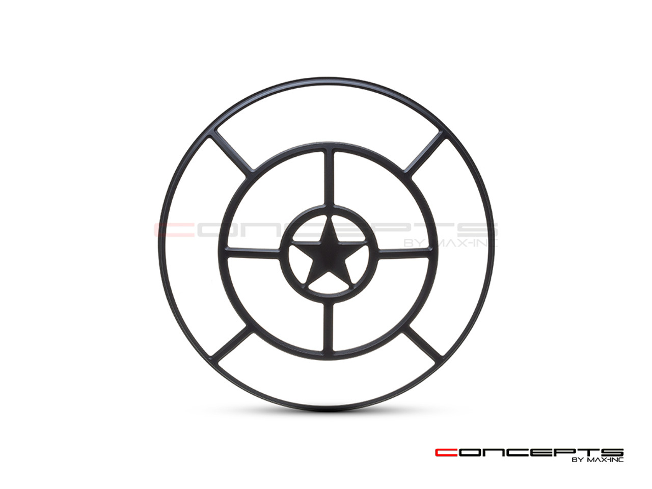 "Star Grill Design 7"" Black CNC Aluminum Headlight Guard Cover"