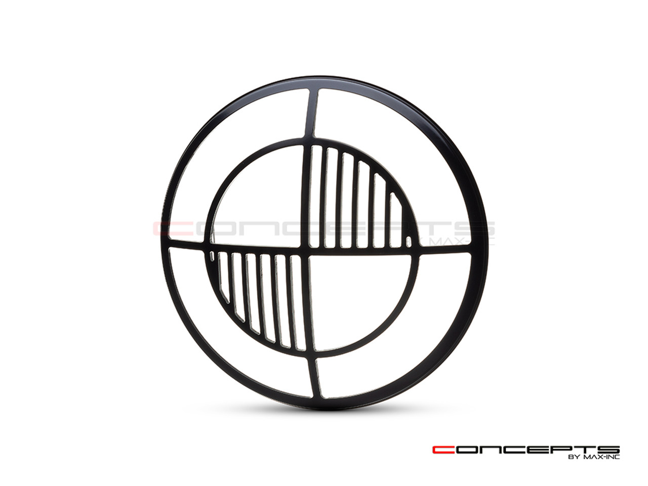"Beemer Grill Design 7"" Black CNC Aluminum Headlight Guard Cover"