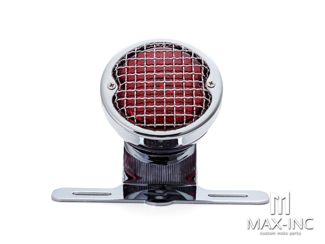 Chrome Mesh Grill Metal LED Stop / Tail Light