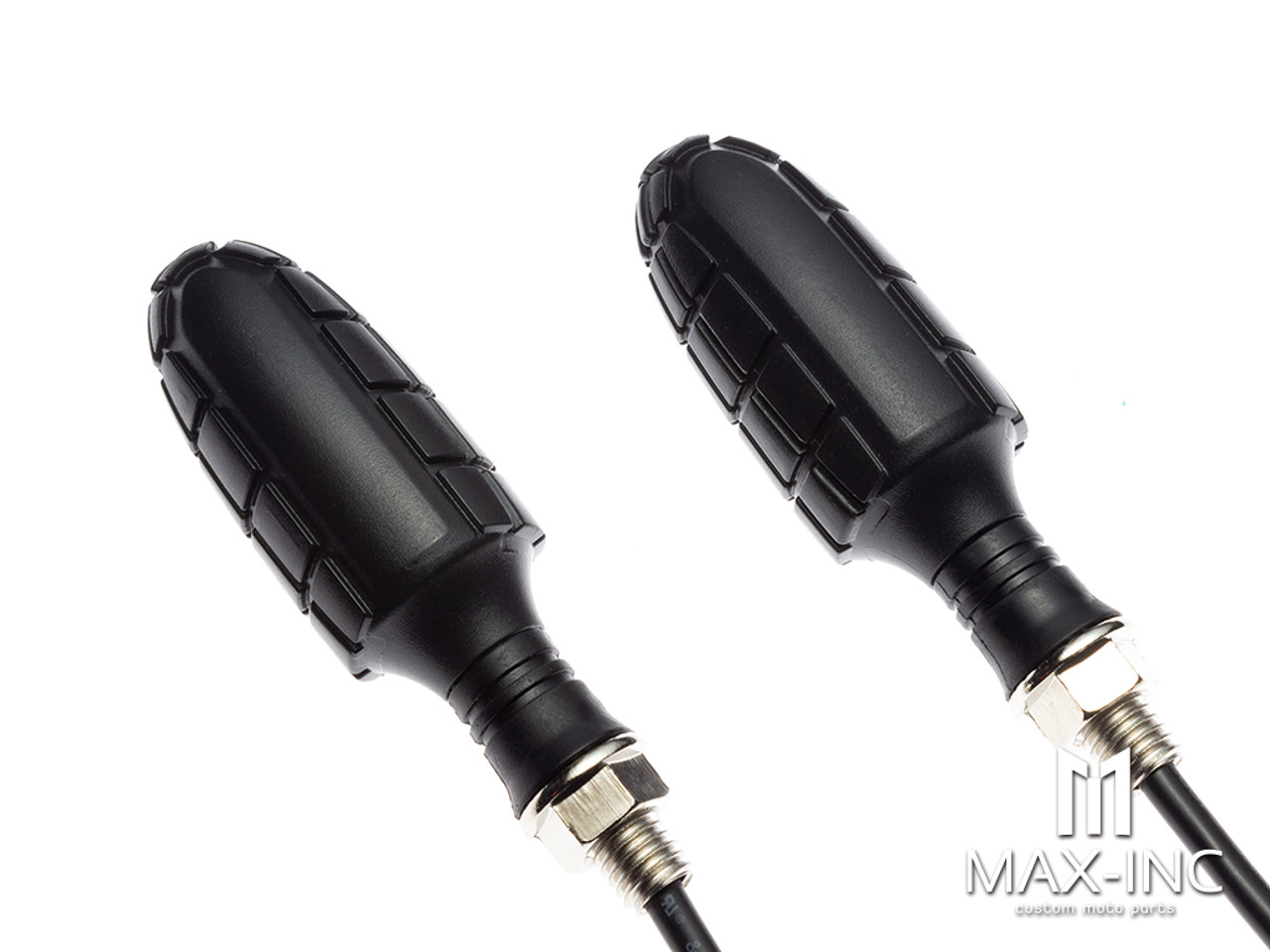 Black Grenade Integrated LED Sequential Turn Signals + Daytime Running Lights