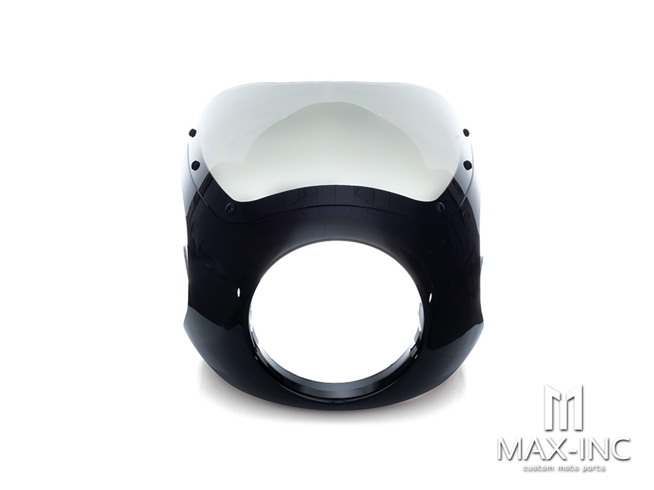 Black Universal Broman Cafe Racer Headlight Fairing / Cowl