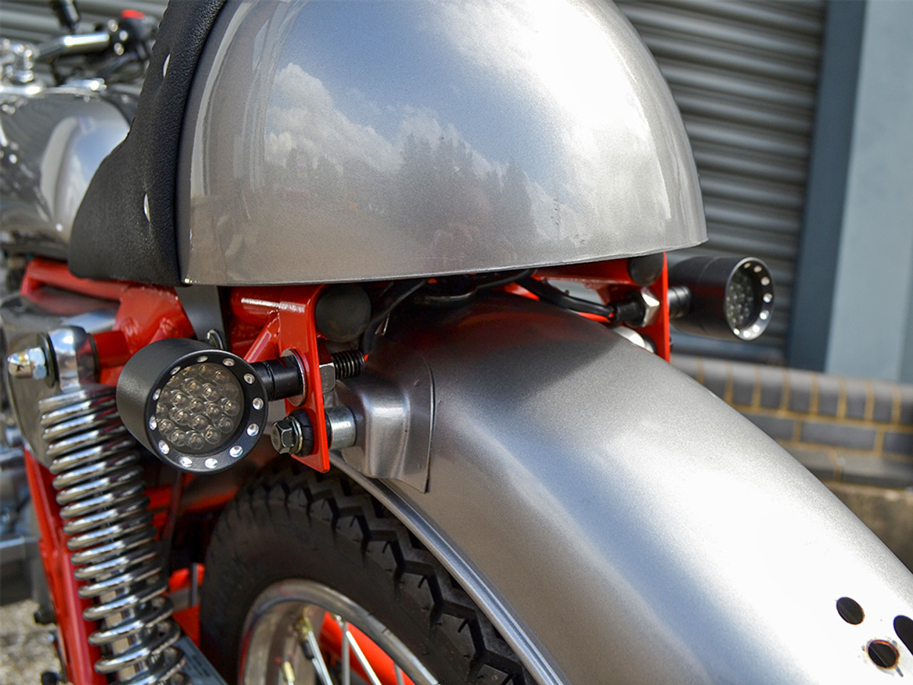 Black Bobber Alloy Integrated LED Stop / Tail Lights + Turn Signals