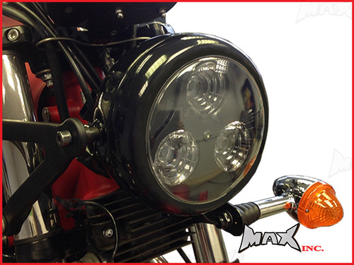 Universal Black Metal 3 Eye LED Headlight
