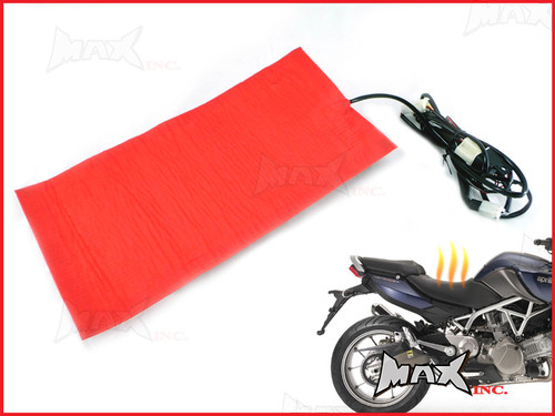 Universal 12v Carbon Fiber Motorcycle Seat Heater