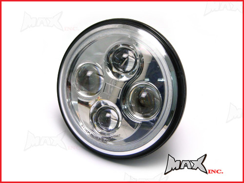 7 INCH High Quality Quad Projector LED Headlight + White Halo - Fits Harley Davidson & Jeep