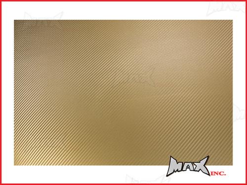 High Grade Self Adhesive Gold 3D Carbon Fiber Vinyl Wrap - 45cm x 37cm