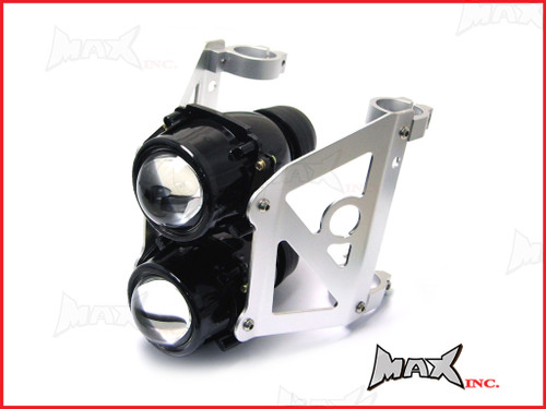Dual Stacked Streetfighter Projector Headlight Set - Emarked & DOT Approved - 46/47mm