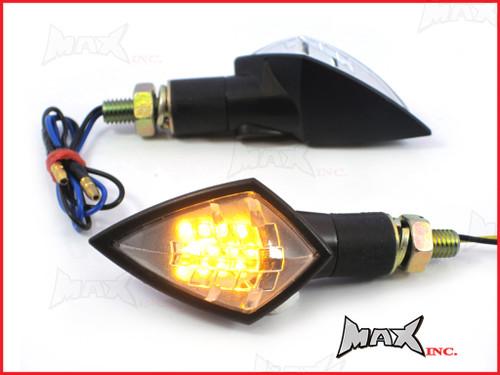 Black Mini LED Turn Signals / Indicators - Small & Bright