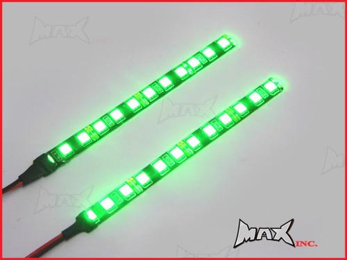 Super Bright Universal Green LED Self Adhesive Strips - 15cm