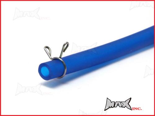 """Blue 4mm Silicone Fuel Line Hose - Length 40"""" (100cm)"""