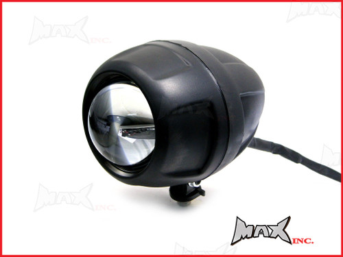 Black Universal Hi / Low Projector Custom Headlight - 55w Halogen Bulb