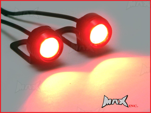Universal Auxiliary Red LED Projector Marker / Fog Lights