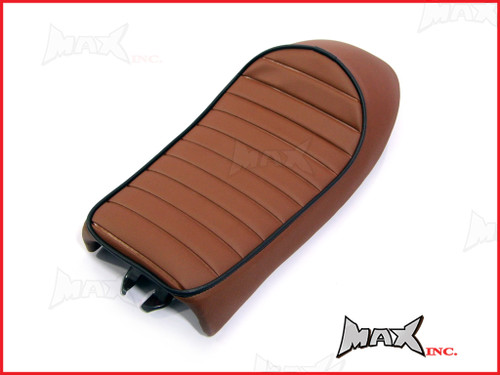 High Quality Rum Brown Universal Cafe Racer Sportster Motorcycle Seat