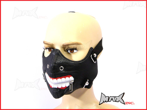 Joker Bikers Face Mask - PU Leather