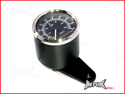 Motorcycle GPS Analog Speedometer 120MPH / 200KPH - Billet Alum Housing