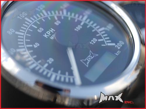 Motorcycle GPS Analog Speedometer 120MPH / 200KPH - Billet Alum Housing