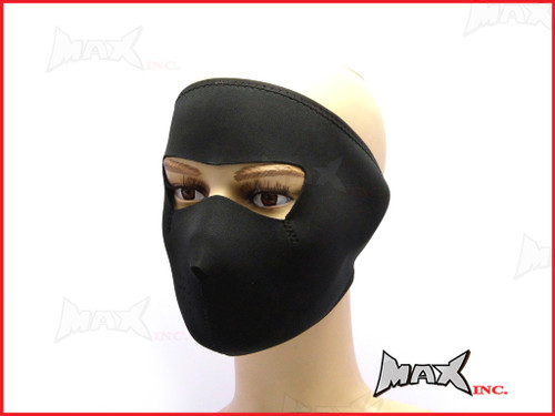 Black Plain Neoprene Bikers Full Face Mask