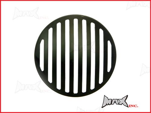 7 INCH Matte Black Prison Bar Grill Metal Headlight Cover