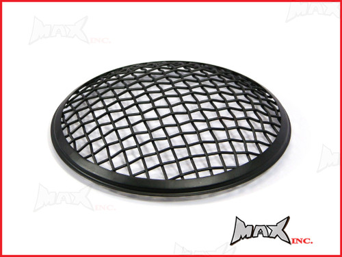 7 INCH Matte Black Mesh Grill Metal Headlight Cover