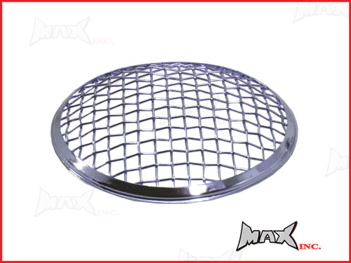 7 INCH Chrome Mesh Grill Metal Headlight Cover