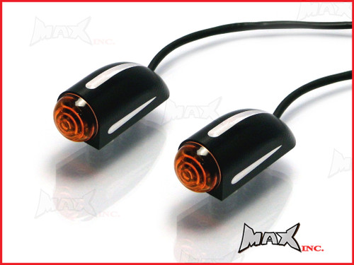 Black + Contrast Cut Billet Aluminium Flush Mount Turn Signals