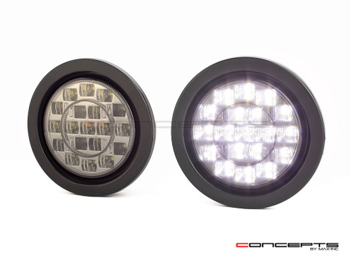 "4"" Universal Flush Mount LED Reverse Lights - Smoked Lens"