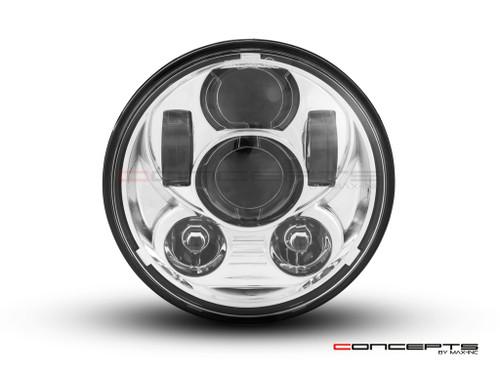 "5.75"" Chrome Six Projector LED Headlight Insert - 45w"