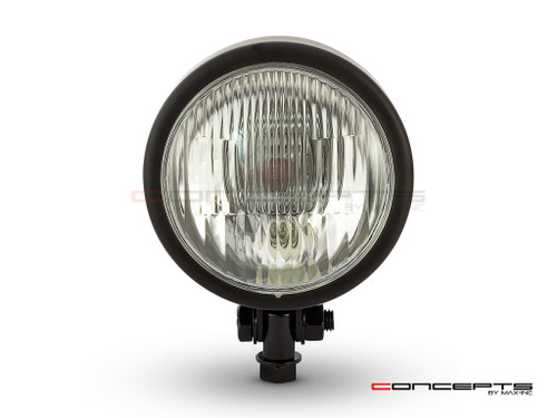 "4.5"" Matte Black Metal Custom Headlight - 12v / 55w"
