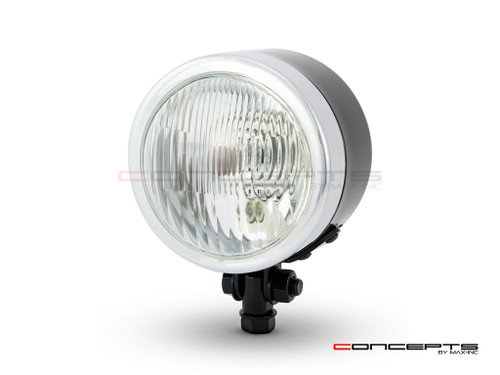 "4.5"" Black + Chrome Metal Custom Headlight - 12v / 55w"