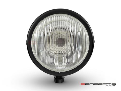 "4.5"" Matte Black Bottom Mount Vintage Style Universal Headlight"