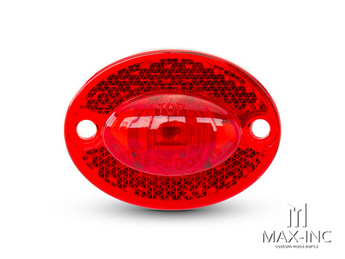 Universal Micro Oval LED Stop / Tail Light / Reflector