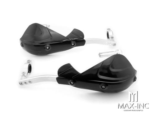 "Black Universal Alloy / Plastic Hand Guards - Fits 7/8"" Bars"