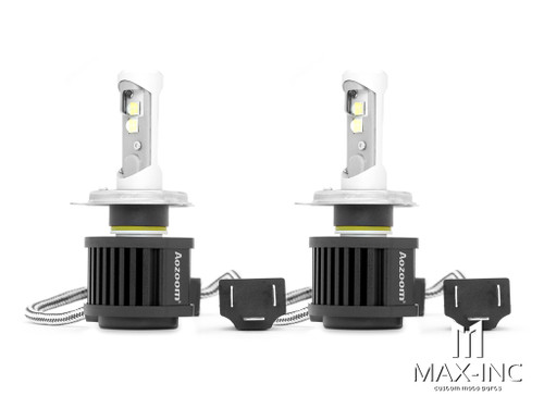 Super Bright Aozoom LED H4 Headlight Bulbs - Hi / Low Beam - Plug n Play