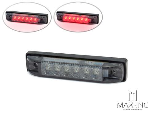 "4"" Cafe Racer Flush Mount LED Stop / Tail Light - Smoked Lens"