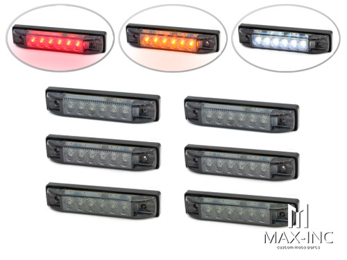 "4"" Flush Mount LED Stop / Tail Lights + Turn Signals + Reverse Lights - Set Of 6"